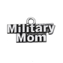 $enCountryForm.capitalKeyWord Canada - Free shipping New Fashion Easy to diy 20Pcs Metal Alphabet Military Mom Charms Jewelry For Women jewelry making fit for necklace or bracelet