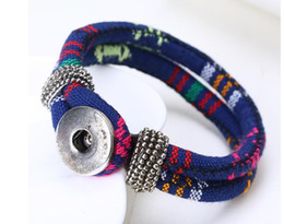 Chunks Button Bracelet Canada - 2016 newest design snap jewelry wholesale buttons snap noosa chunks leather bracelets for women