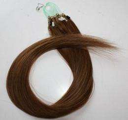 "$enCountryForm.capitalKeyWord Canada - remy indian Hair 18""-22"" 1g  s 100g set #6 light brown Loop Micro Ring Hair Extension,100% Remy brazilian Human Hair Extensions dhl free"
