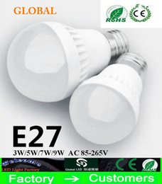 dimmable energy saving bulbs NZ - 3W 5W 7W 9W LED bulbs LED Globe Light Energy Saving Ac85-265V E27 Dimmable led lamp3 years warranty 5730 5630 led lights