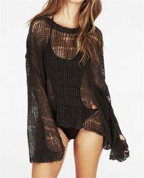 $enCountryForm.capitalKeyWord Canada - Fashion Womens Crochet Sexy Swim Cover Up Beach O-neck Loose Knit Heart Hole Swimwear Casual Solid Bikini Cover Up Beach Dress Free Shipping