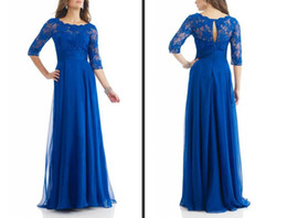 China Spring 2015 new collection chiffon fashion mother of the bride dresses bateau 3 4 long sleeve A-line floor length beads zipper free shipping suppliers
