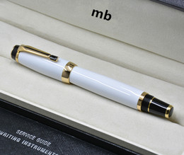 Quality Metal Pens Australia - high quality MT Bohemi white metal Roller ball pen with gem school office stationery luxury lady Writing ball pens Gift A6