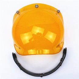 Helmet Motorcycles Open Face NZ - Wholesale-Free shipping bubble visor top quality open face motorcycle helmet shield 9 color available vintage helmet shield