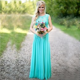 online shopping Classic Purple Turquoise Bridesmaid Dress Long Robe Lace A Line Bridesmaid Dress Robe de Soiree Longue