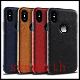 S6 pattern caSe online shopping - For iPhone X s Plus Samsung Note8 S9 S8 Plus S7 S6 edge Leather Pattern Phone Case TPU Soft Anti drop Case