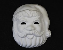 $enCountryForm.capitalKeyWord NZ - Blank Unpainted Santa Claus Masquerade Party Masks Environmental Paper Pulp Full Face DIY Fine Art Painting Plain White Mask 10pcs lot