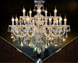 Hotel Lobby Chandeliers NZ - european Large candle chandelier living room duplex villas hotel clubs chandeliers luxurious crystal chandelier for hotel lobby