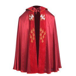 red bird costume 2019 - High Quality Vintage Catholic Church Red Vestments Cope with Stole Birds IHS Embroidered Robe for Men discount red bird