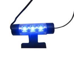 China Essential 01F224 4x 3LED Car Charge 12V 4W Glow Interior Decorative 4in1 Atmosphere Blue Light Lamp Atmosphere inside foot lamp M1750 suppliers