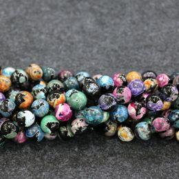 $enCountryForm.capitalKeyWord Australia - 10mm 38pcs 1Strand Druzy Rainbow Black Agate Beads Natural Loose Gemstone Crystal Quartz Druzy Agate Necklace Pendant Jewelry Make Connector
