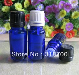 $enCountryForm.capitalKeyWord NZ - Free shipping - 500 lot 5ml blue glass essential oil bottle with plastic cap, cosmetic packaging, essential oil container
