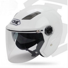Dual Helmet Half Face NZ - YOHE dual lens winter half face motorcycle helmet Eternal electric bicycle helmet motorbike helmet YH837A SIZE M L XL XXL 7 colors