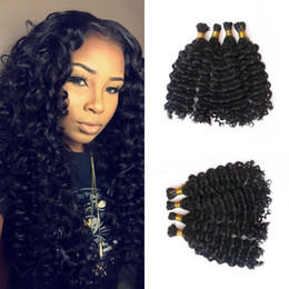 High Quality Bundle Human Hair NZ - Brazilian Human Hair Bulks 4 Bundles Deep Wave 100 Unprocessed Bulk Hair For Braiding High Quality FDshine HAIR
