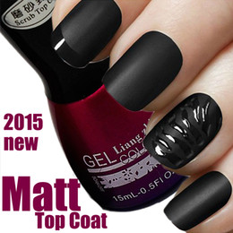 Vernis À Ongles De Salon En Gros Pas Cher-Gros-15ml Matt Matte Top Coat 2015 New Intense Seal Protéger Dry Nail Top Coat 0,5 oz salon pour UV Acrylique Gel Nail soak off gel polish