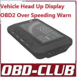 Volvo Lcd Canada - 2015 Car HUD Vehicle Head Up Display OBDII OBD2 for car Speeding Warning display LCD F01
