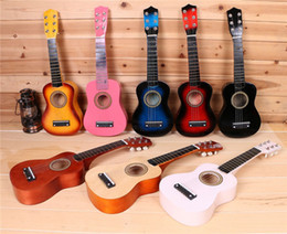 "Guitar Electric Acoustic NZ - Guitar Electric Guitars Cheap Guitars Guitar Pedal Goplus 25"" Beginners Kids Acoustic Guitar 6 String With Pick Children Kids Music Fashion"