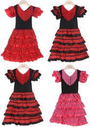 Black flamenco dress online shopping - New Girls dress Beautiful Spanish Flamenco Dance Dress flamenco dress size size U pick