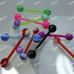 $enCountryForm.capitalKeyWord NZ - Nice Wholesale Jewelry Lots UV Flexible Acrylic Tongue Bar Lip Belly Eyebrow Ear Barbell jewelry LR343 free shipping