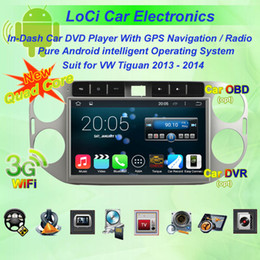 Vw Stereos Android Australia - Car dvd Multimedia radio android player for VW volkswagen Tiguan 2013, 2014,gps navigation,Pure android 4.4.4, Quad Core
