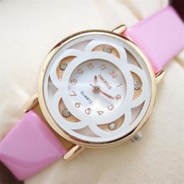 Business Model Canada - Superior New Business Watch Leisure Models Diamond Bracelet Quartz Leather Watch for Women July17