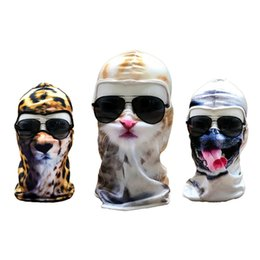 China 3D Print Custom Animal Cat Dog Design Balaclava Motorcycle Hat Cycling Cap Veil Snowboard Windproof Full Face Mask suppliers