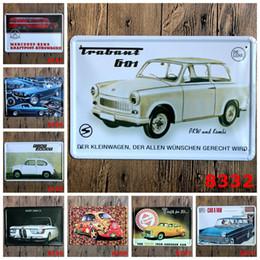 Free Car Media Canada - Vintage Car TIN SIGN Retro Wall Decor Retro Metal Craft Pub Decoration 20*30 CM Free Shipping