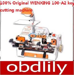 Wenxing Keys Cutting Machine Canada - 100% Original WENXING 100-A2 Key Cutting Machine Multi Funtion Key Copy Machine 120w Free DHL shipping