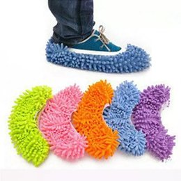Calcetines Perezosos Baratos-1106008 chenille Brillante Lazy trapear zapatos Floor Moppers Zapatillas Mop Floor Polishing Dusting Limpieza Cover Cleaner Cleaning Foot Socks