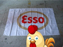 Banner sizes print online shopping - esso flag can custom print file X150CM size polyster esso banner polyester cm