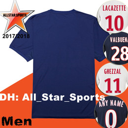 4d3b18208ba ... Real Picture 2017 2018 Olympique Lyonnais soccer Jersey Home away 3RD 17  18 ABILY LACAZETTE VALBUENA ...