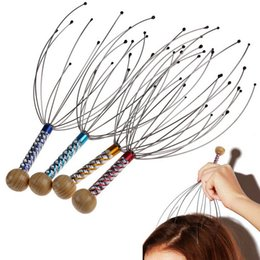 Wholesale 30Pcs Stainless Steel Octopus Head Scalp Neck Equipment Stress Release Relax Massage Claw Massager FG08190