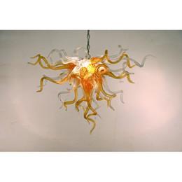 $enCountryForm.capitalKeyWord Australia - Longree 110v-240v LED Bulbs Style Chandeliers Superior Quality Orange Hotel Lobby Blown Glass Pipes Chandelier Decoration
