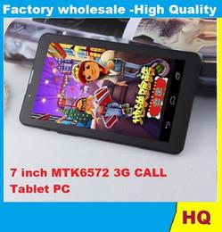 Phone Call Tablet 3g Wcdma NZ - 7 Inch 3G Phablet HD 1024x600 GSM WCDMA MTK6572 Dual Core Dual SIM Dual Cameras GPS Android 4.4 Phone Calling Tablet 1pcs CHeap
