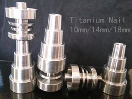titanium nail hookah NZ - Good price New titanium domeless nail gr2 10 14 18mm for Hookahs water Pipe glass bong Smoking free DHL shiping