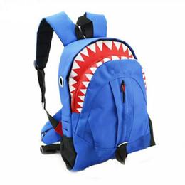 $enCountryForm.capitalKeyWord Australia - Shark Kids Bags Backpack Cute Cartoon Animal Tooth Children Backpacks Big Boys Kindergaden High School Backpacks