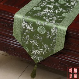High Grade Patchwork Chinese Knot Luxury Dining Table Runners Silk Brocade Cherry Blossoms Rectangle Decorated Cloth L200 33 Cm