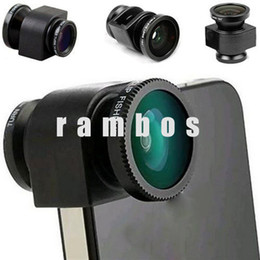 Wholesale Set Hot New Products Mobile Phone Accessories in Fish Eye Lens Fisheye Camera Lens Wide Angel Macrofor iPhone