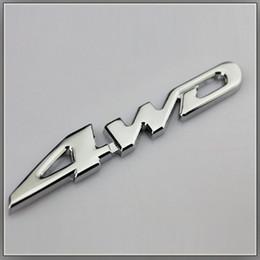 Carro de Metal Cromo 4WD V6 Emblema Do Emblema Do Emblema Toda a Movimentação De Roda Auto Etiqueta 3D Etiqueta Do Carro Logotipo Car Styling Decoração venda por atacado