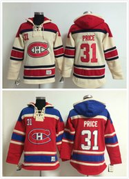 Hockey Hoodie Sweatshirt Canada - Factory Outlet, Men #31 Carey Price Old Time Montreal Canadiens Ice Hockey Hoodies Sweatshirt Jerseys, Stitched sewn Numbering Lettering