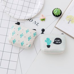 Woman milking cups online shopping - Cacti Printing Coin Storage Bag Women Zipper Purse Portable Canvas Wallet Many Styles lc C R