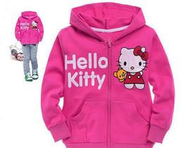 8cb8270ca Hello Kitty Jackets Canada - Girls Jacket with Hood Kids Coat Winter Coat  Outwear Children Coat