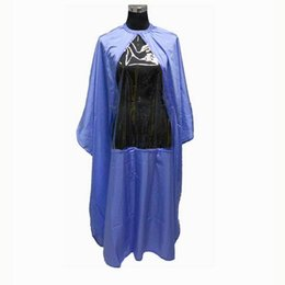 new phones UK - Hairdressing Cape With Window PVC Clear Playing Phone Hair Cutting Cape Waterproof Black Purple White Color Mixed Order New Styling 2016
