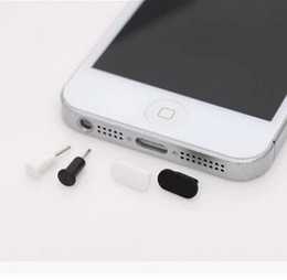 Headphone Jack Dust Cap UK - Data port plug + Headphone port plug mobile phone anti dust plug cap stopper for iPhone 5 5s 6 6s 6plus