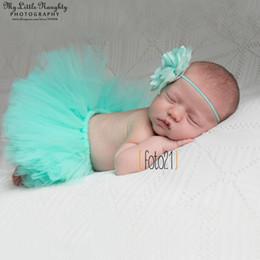 Pink Tutu Photography Canada - 12 colors Newborn tutu skirt sets photography props baby girl tutu and flower headband set Christmas studio photoshoot outfits