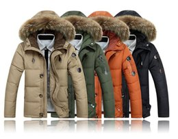 Discount Black Jacket Fur Hood Mens | 2017 Mens Black Parka Jacket ...