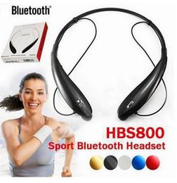 Опт Горячие продажи HBS 800 Bluetooth 4.0 Наушники Наушники HBS-800 Спортивная Стерео Bluetooth для Беспроводной Гарнитуры для телефона Samsung Soft Box