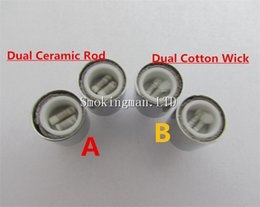 $enCountryForm.capitalKeyWord Canada - In Stock!!! Dual wax coils for cannon vaporizer atomizer double coil DCT Cax oil Ceramic rod Cotton wax Glass vase Skull Bowling cartomizer
