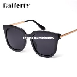 6351e58a8122 Ralferty Korean Oversized Square Sunglasses Women Men Luxury Brand Big  Black Sun Glasses Mirror Shades lunette femme Oculos 1060