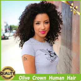 $enCountryForm.capitalKeyWord Canada - Short Afro Kinky Curly Full Lace Human Hair Wig 100% Brazilian Virgin Remy Human Hair Glueless Lace Front Wigs With Baby Hair